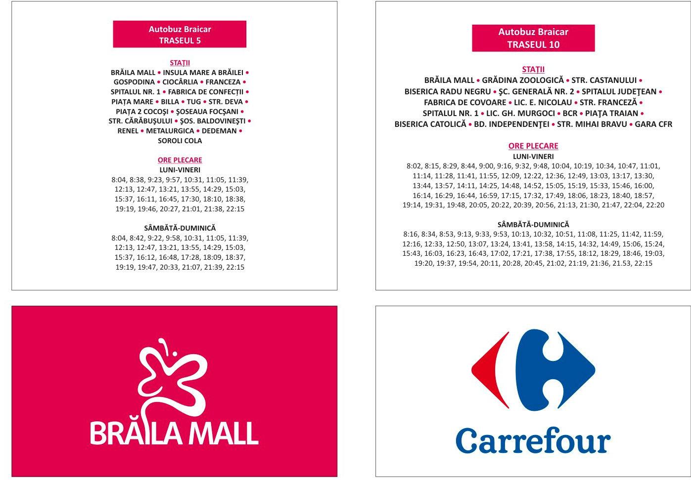 imagini detaliate 50% reducere comercializează transport public 2 • Brăila Mall